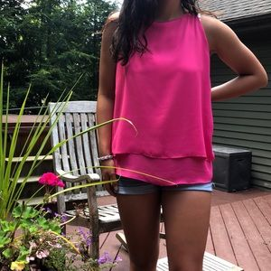 NWOT Cynthia Rowley Pink Silky Tank Top